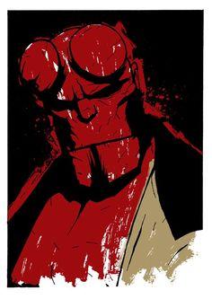 Hellboy by Matthew Dunn http://matthewdunnart.com/