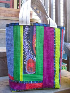 QAYG Tote…just one or two prints with several solid colors….stunning!