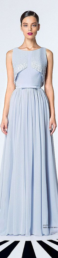 Georges Hobeika Spring Summer 2015  ♔ Baby Blue Ball Gown