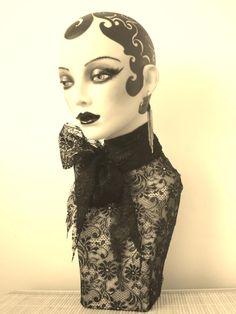 Vintage Mannequin, Mannequin Heads, Erte Art, Styrofoam Head, Gold Skin, Hat Stands, Headspace, Retail Space, Hat Hairstyles