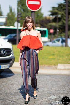 Anya looking fab in Vika Gazinskaya in Paris. #AnyaZiourova