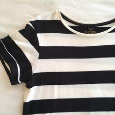 {Kate Spade} Black & White Stripe Top ♠️❤️Kate Spade Black & White Stripe Signature Top kate spade Tops Tees - Short Sleeve