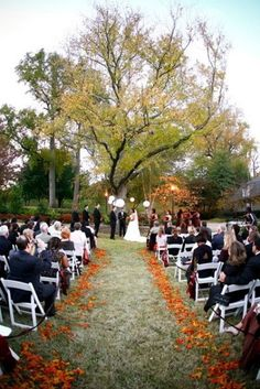outside fall decorating ideas   36 Awesome Outdoor Décor Fall Wedding Ideas…