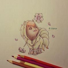 vulpix in ninetales onsie - Photo by itsbirdy