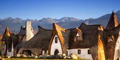 A Romanian hotel called Castelul de Lut Valea Zanelor looks just like a fairytale home.