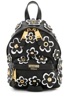 Moschino floral embellished backpack Cute Laptop Bags, Cute Bags, Unique Handbags, Purses And Handbags, Floral Backpack, Backpack Bags, Mochila Floral, Moschino, Novelty Bags