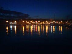 Vodice by night, Croatia