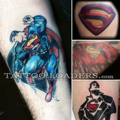 Superman tattoos are suppose