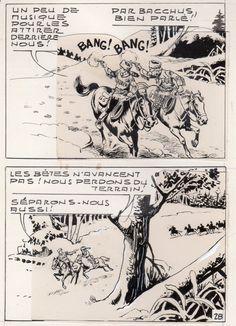 MIKI LE RANGER LES TRAPPEURS  PLANCHE  MONTAGE NEVADA 1959 PIECE UNIQUE PAGE 28 fr.picclick.com