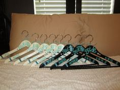 custom painted hangers for weddings and by passionatelypink