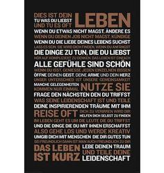 Home affaire, Deco Panel »Dies ist dein Leben..«, 60/90 cm Jetzt bestellen unter: https://moebel.ladendirekt.de/dekoration/bilder-und-rahmen/bilder/?uid=761fbc49-4443-5a9d-9953-f03827c74dd6&utm_source=pinterest&utm_medium=pin&utm_campaign=boards #bilder #rahmen #dekoration