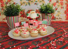 Toppers para Docinhos e Cupcakes, tema de Natal.