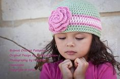 Crochet Hat PATTERN Girls and Boys Quick and por bubnutPatterns