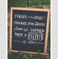 More and more, people are not doing a brides side and grooms side - let your guests know if you decide to have open seating at the ceremony!