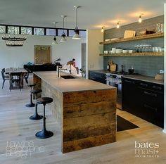 Rustic meets modern...love! Open floor plan
