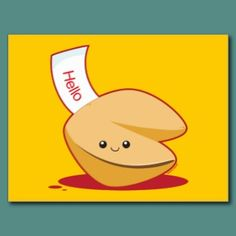 Fortune Cookie Post Card