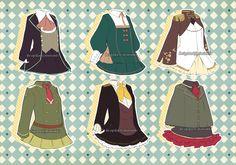 [CLOSED ]Adoptable #17: Uniform/Seifuku Outfit by minniekki