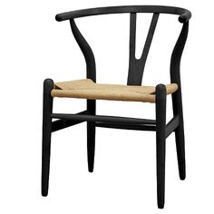 Wishbone Wood Y Chair Black Wood - Baxton Studio : Target