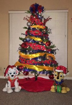 65 out of the box christmas tree themes you must check out christmas crafts fir - Paw Patrol Christmas Tree Decorations