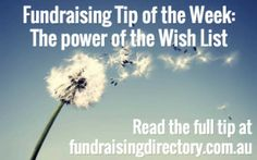 The power of 'Wish Lists' in fundraising fundraisingdirectory.com.au