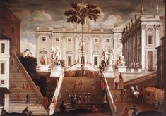 TASSI, Agostino Competition on the Capitoline Hill 1630s Oil on canvas Pinacoteca Capitolina, Rome