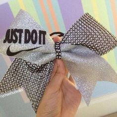 Just do it Nike cheer bow