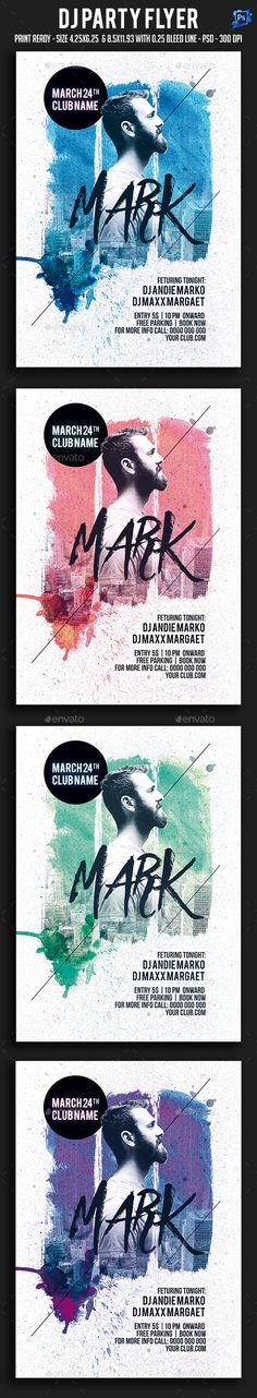 Dj Party Flyer Template PSD