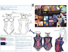 Baño de autor - ficha tecnica Fashion Illustration Sketches, Fashion Sketchbook, Fashion Sketches, Ropa Interior Boxers, Textile Manipulation, Fashion Design Portfolio, Easy Sewing Patterns, Fashion Marketing, Bodysuit Lingerie