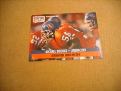 Michael Brooks Denver Broncos Linebacker Card No. 137 - 1991 NFL Football Card for sale at Wenzel Thrifty Nickel ecrater store