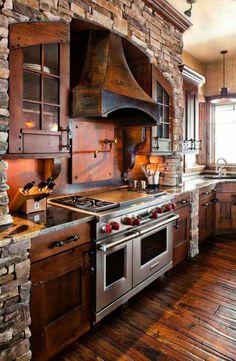 Awesome stone kitchen
