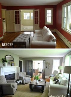 Living room design furniture and decorating ideas http for Living room makeovers before and after uk