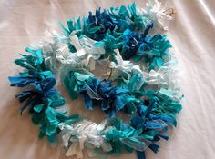 Mermaid Garland Coastal Rag Garland Beach House by ZeliesLace