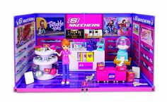 Amazon.com: miWorld Deluxe Skechers with Doll Environment 55 Piece Set: Toys & Games