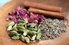 Persian Spice Mix: Advieh | typically includes ingredients like dried rose petals or buds, cardamom, cinnamon, and cumin, all ground to a fine powder. Some recipes also include black pepper, caraway, cloves, coriander, dried lime, ginger, nutmeg, pistachio, saffron, or turmeric.