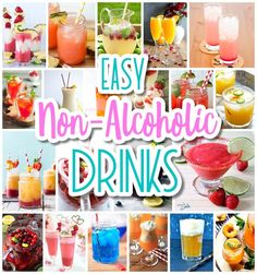 The BEST Easy Non-Alcoholic Drinks Recipes - Creative Mocktails and Family Frien. CLICK Image for full details The BEST Easy Non-Alcoholic Drinks Recipes - Creative Mocktails and Family Friendly, Alcohol-Free, Big Batch. Kid Drinks, Summer Drinks, Summer Food, Diy Party Drinks, Summer Fresh, Summer Dishes, Summer Diy, Healthy Summer, Cl Birthday