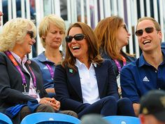 HURRAH FOR ZARA  Jolly good show! Duchess Camilla, Duchess Catherine and Prince William cheer on royal cousin Zara Phillips, who's competing in the equestrian events at the Olympics, on Monday in London.