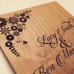 Rustic woodland wedding invitations from www.batemandesigns.co.uk