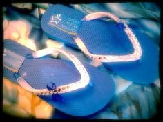 https://www.cityblis.com/item/12358  Colon Cancer Awareness Flip Flops, at 5.00% off by Francesca's Fancy Flops  Flaunt some amazing blue fancy flops with the blue ribbon! Share with everyone why you are flaunting blue! Share and spread the word about Colon Cancer Awareness! The fancy flops are bright blue wrapped with white ribbon & have a bright blue ribbon on the side. The flip flop color blue may vary from...