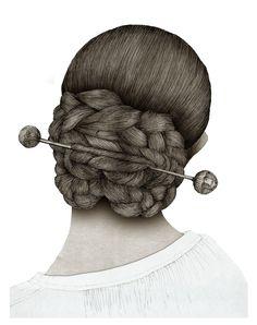Peinado: moño de rosca