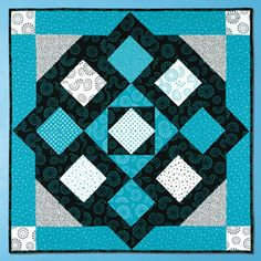 "Can you believe this is a beginner quilt pattern?   This and That by KAREN COMBS - ""No borders to cut! Squares and half-square triangle units were sewn together to create this easy beginner quilt"" - Finished quilt size: 40 x 40"