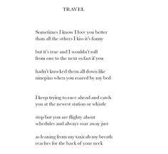 """Frank O'Hara, """"Travel"""""""