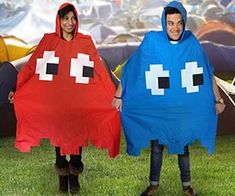 The retro Pac-Man ghost poncho will thrill and terrify your friends who are dressed like Pac-Man. This ghost poncho is shaped just like a ghost from the old...
