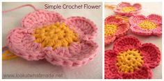 Simple Crochet Flower Lookatwhatimade