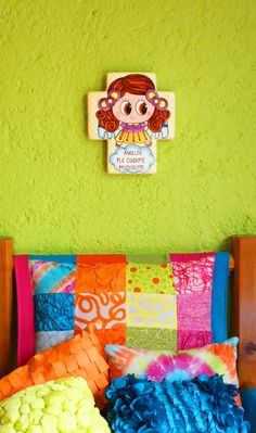 Pal` rezo diario al Ángel de la guarda! #cruz #cerámica #estilo #decor #Distrollerjoum