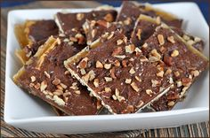 Matzo with Chocolate and Toffee. A super easy treat for Passover, Easter, or anytime during the year.