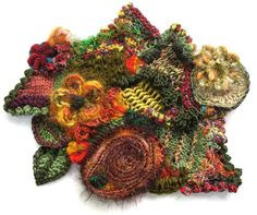 Prudence Mapstone is an Australian textile artist whose medium is freeform knitting & crochet. Prudence has a blog called A Scrumble A Week. This is Scfumble #39  Click through the link for information about each of her Scrumbles and for more about this one in particular.