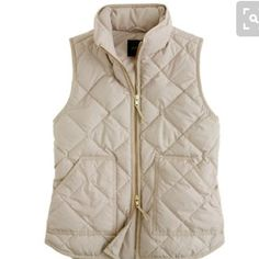 J crew quilted excursion vest Excursion vest in warm bisque. Worn one time because it's a tad too big on me. I need an XS.i usually don't trade but might be willing for an XS in new condition. Please no Lowballing J. Crew Jackets & Coats Vests