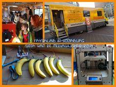 Het mobiele Fablab van #FryskLab bij de Bibliotheek aan de Vliet in Voorburg tijdens de Week van de Mediawijsheid #WvdM14