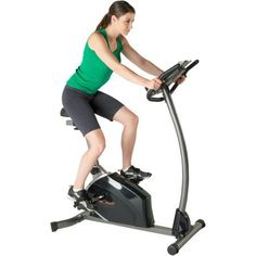 Fitness Reality Magnetic Resistance Upright Exercise Bike with Extended Seat Design Book iPad Holder with Heart Rate Control >>> See this great product. Upright Exercise Bike, Upright Bike, Bicycle Workout, Cycling Workout, Training Equipment, No Equipment Workout, Ipad Holder, Mountain Bike Shoes