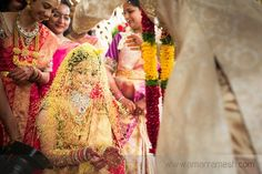 Thalambralu is a popular ritual in Telugu weddings. After tying the knot, the bride and groom shower each other with pearls and. Indian Wedding Couple, Indian Wedding Planning, Wedding Planning Websites, Indian Weddings, Wedding Shoot, Wedding Couples, South Indian Bride, Indian Bridal, Telugu Wedding
